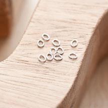Anneaux 3x4mm Fins Argent gris x 80