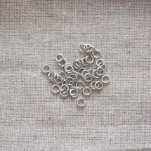Anneaux 4mm Argent gris x 100