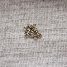 Anneaux Ronds 4x0.7mm Bronze vieilli x 100pcs