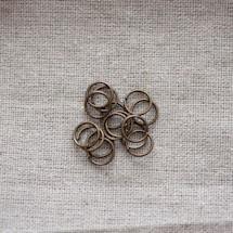 Anneaux 8mm Bronze vieilli x 60