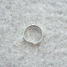 Bague 18mm 1 anneau Argent vieilli x 4