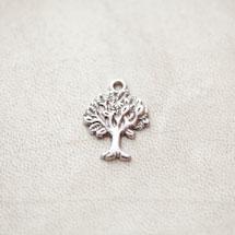 Breloque Petit arbre Argent vieilli x 4