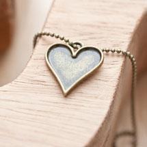 Breloque Coeur de carte Bronze vieilli x 5