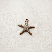 Breloque Étoile de mer Bronze vieilli x 15