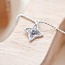 Breloque Étoile filigrane décorée Argent vieilli x 8