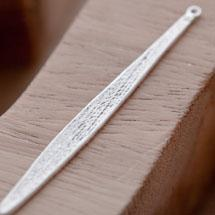 Breloque Longue Tige plate Argent vieilli x 5
