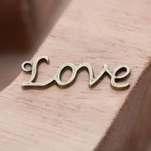 Breloque Love Écriture Script Bronze vieilli x 10