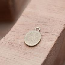 Breloque Médaillon Ovale Bronze vieilli x 10