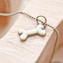 Breloque Os pour chien Bronze vieilli x 5