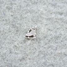 Breloque Patin à glace Argent vieilli x 6