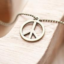 Breloque Peace and Love Bronze vieilli x 8