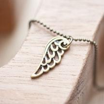 Breloque Petite aile d'ange Bronze vieilli x 9