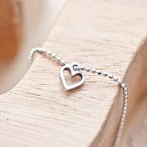 Breloque Petit coeur fil Argent vieilli x 20