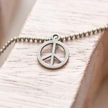 Breloque Petit Peace Bronze vieilli x 20