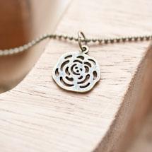 Breloque Petite rose filigrane Bronze vieilli x 5