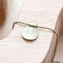 Breloque Plaque ronde coulissante Bronze vieilli x 5