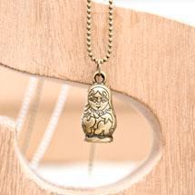 Pendentif Poupée Russe Bronze vieilli x 1