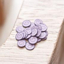 Cabochon en polymère Écaille 6mm Petit Gateau Roulé Chocolat x 100