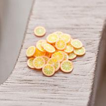 Cabochon en polymère Écaille 6mm Petite Orange x 100