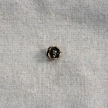 Cabochon métal Petite fleur relief x 80