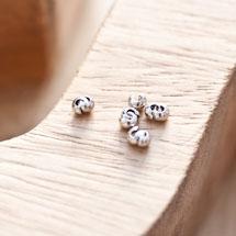 Cache perle à écraser 3mm Argent gris x 20