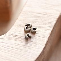 Cache perle à écraser 4mm Bronze vieilli x 20