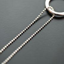 Chaine à boules à facettes 1,5mm Argent gris x 1m