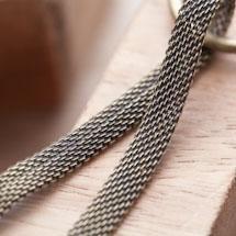 Chaîne Tressée 6mm Bronze vieilli en rouleau de 6m