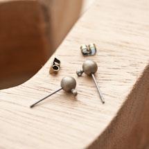 Clou d'oreille 5x15mm Bronze vieilli x 4pcs