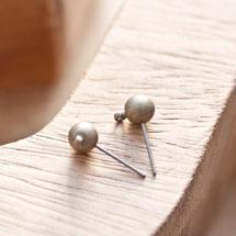 Clou d'oreille à boule 6mm Bronze vieilli x 4