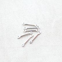 Connecteur Barre 15mm Argenté gris x 20pcs