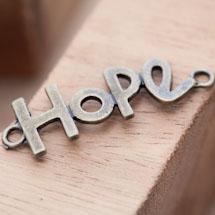Connecteur Espoir Hope Bronze vieilli x 2