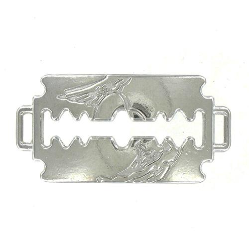 Connecteur lame de rasoir 40x20mm couleur Argent