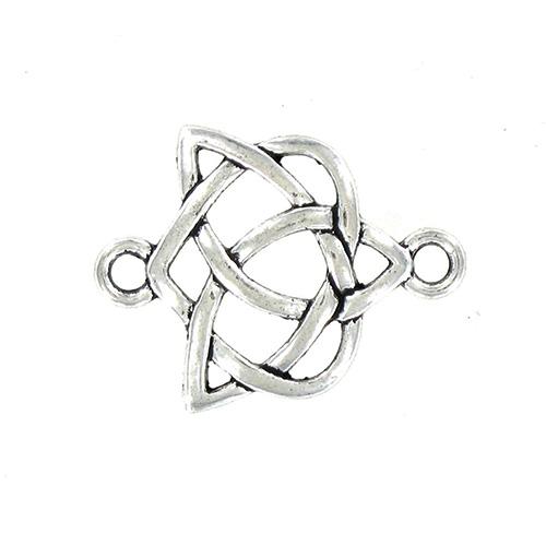 Connecteur noeud celtique 24x19mm Argent vieilli x 5