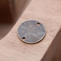 Connecteur Rond 20mm Plaque Relief Bronze vieilli x 5