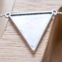 Connecteur Triangle Argent vieilli x 3