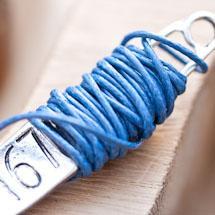 Cordon coton Coréen 1mm Bleu foncé x 2m