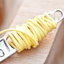 Cordon coton Coréen 1mm Jaune x 5m