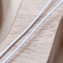 Cordon élastique 1mm Blanc x 4m