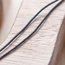 Cordon élastique 1mm Noir x 5m