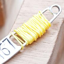 Cordon en nylon 0.8mm Jaune x 8m