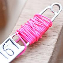 Cordon en nylon 0.8mm Rose fluo x 4m