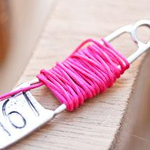Cordon en nylon 0.8mm Rose violet x 8m