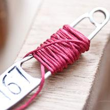 Cordon en nylon 0.8mm Rouge Bordeaux x 4m