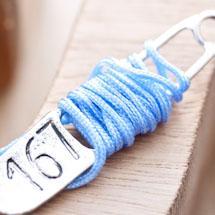 Cordon en nylon 1.5mm Bleu clair x 4m