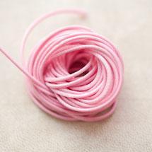 Cordon en Polyester 1mm Coréen Rose x 3m