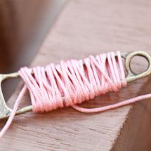Cordon Nylon 0.8mm Rose Pêche x 8m