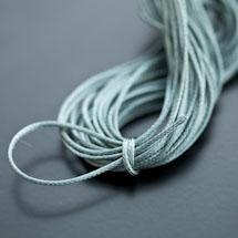 Cordon Polyester 0.5mm Bleu Eau x 4m