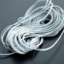 Cordon Polyester 0.5mm Gris x 4m