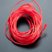 Cordon Polyester 0.5mm Rouge Brique x 4m